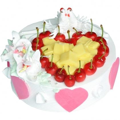 鲜奶水果蛋糕/爱的华尔兹(8寸)