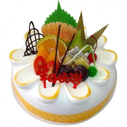 鲜奶水果蛋糕/斜阳(8寸)