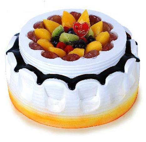 鲜奶水果蛋糕/水果聚会(8寸)