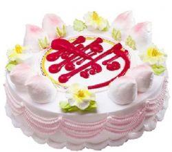 祝寿蛋糕/寿比松龄: 圆形鲜奶蛋糕