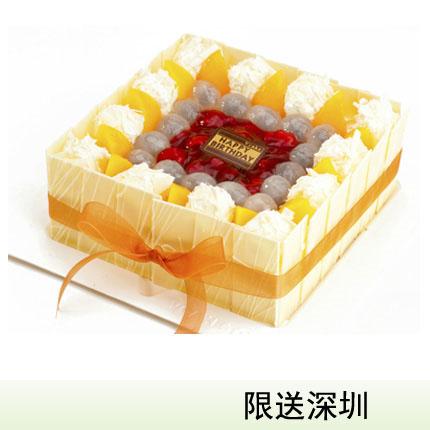 深圳vcake蛋糕/�r果情仁(6寸/1.5磅)