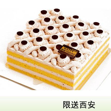 西安vcake蛋糕/栗蓉方格(6寸/1.5磅)