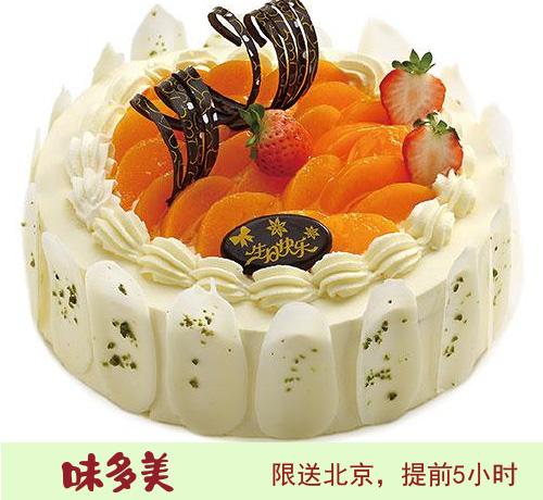 北京味美多蛋糕 黄金蜜桃蛋糕 (6寸)