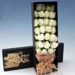 33枝白玫瑰/陪伴你