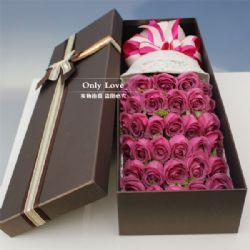 33枝紫玫瑰/陪伴你