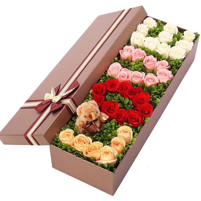 �Y盒/33朵�t白玫瑰