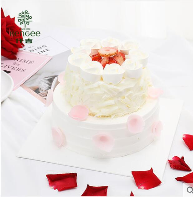 仟吉蛋糕 爱的圆舞曲 奶油生日蛋糕