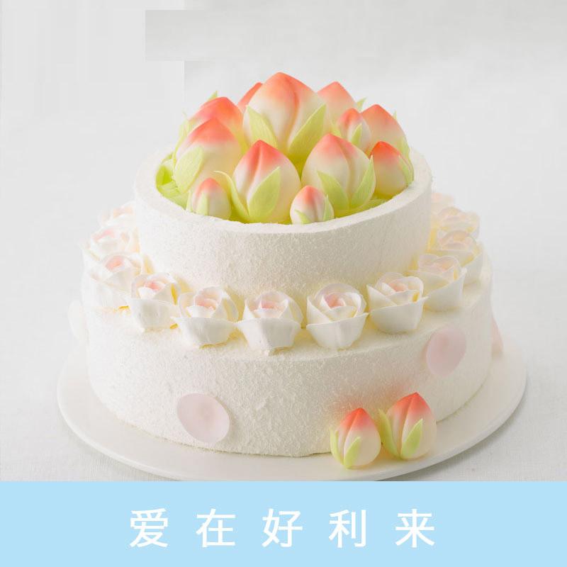 好利来蛋糕/仙桃献瑞(10寸+6寸)