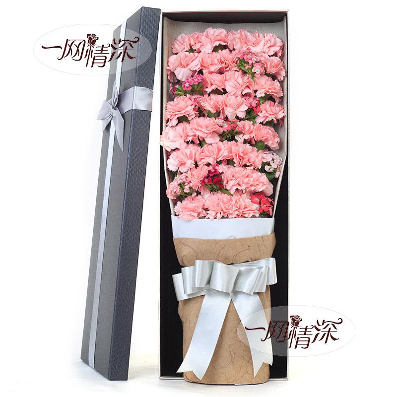 33枝粉色康乃馨/无私