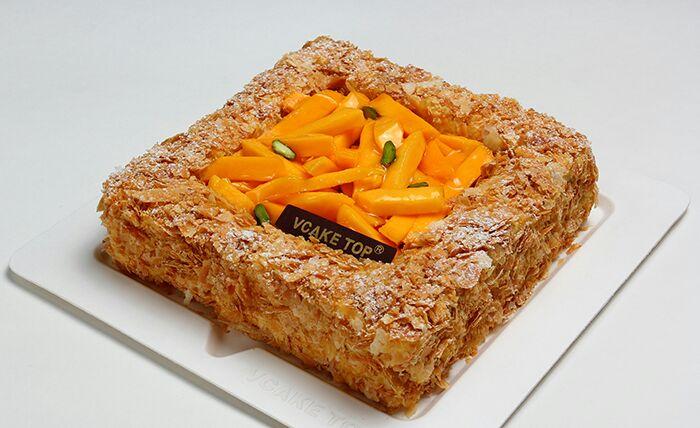 西安vcake蛋糕/芒果拿破��(8寸/2磅)