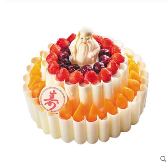 西安御品轩蛋糕 寿星送福双层(12寸)[提前一天]