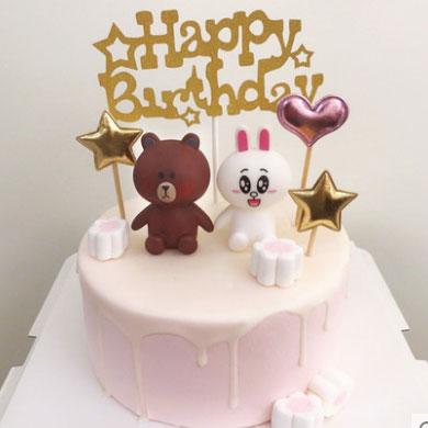 网红蛋糕/布朗熊可妮兔2(下单前请咨询在线客服)