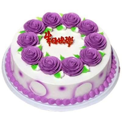鲜奶蛋糕/玫瑰紫情
