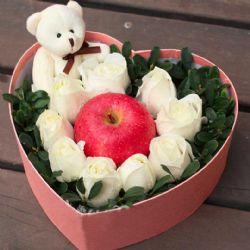 圣诞鲜花/9朵白玫瑰