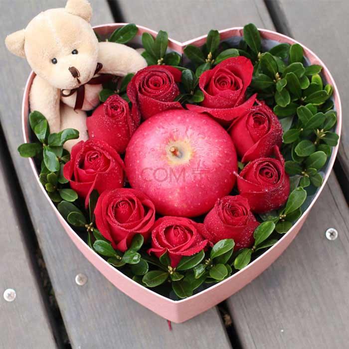 圣�Q�r花/9朵�t玫瑰