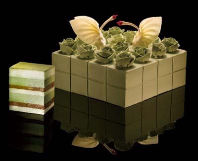 黑天鹅蛋糕/玫瑰天使(抹茶口味)(6寸)