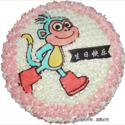 鲜奶蛋糕/小猴乐乐