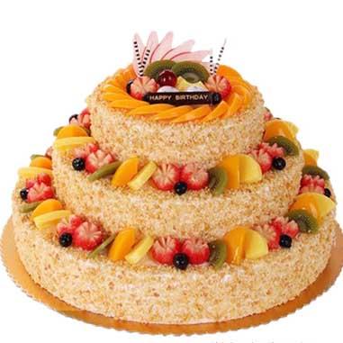 鲜奶水果蛋糕/一眼倾城