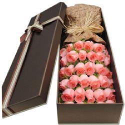 礼盒/33枝粉玫瑰