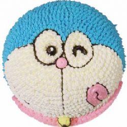 鲜奶蛋糕/哆啦A梦的祝福: 哆来A梦形状奶油蛋糕