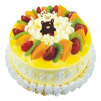 �r奶水果蛋糕/一��A心