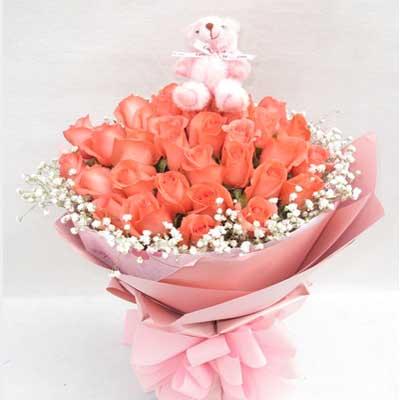 33朵粉玫瑰/一��情
