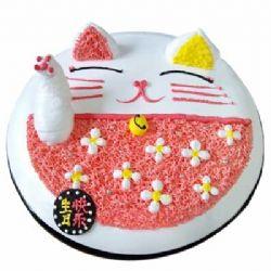 鲜奶蛋糕/招财猫