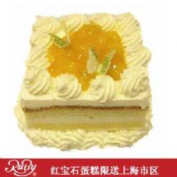 红宝石蛋糕/方形芒果鲜奶蛋糕