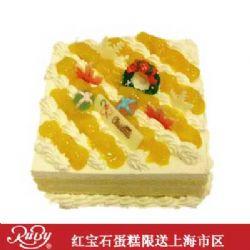 红宝石蛋糕/方形鲜奶芒果蛋糕