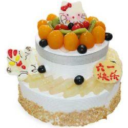雙層兒童蛋糕/雪國夢幻