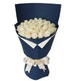 29枝白玫瑰/海洋之心