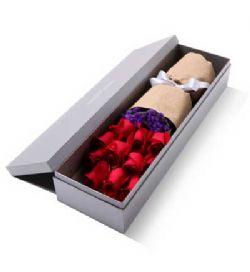礼盒/11枝红玫瑰燃梦: 红玫瑰11枝,勿忘我适量