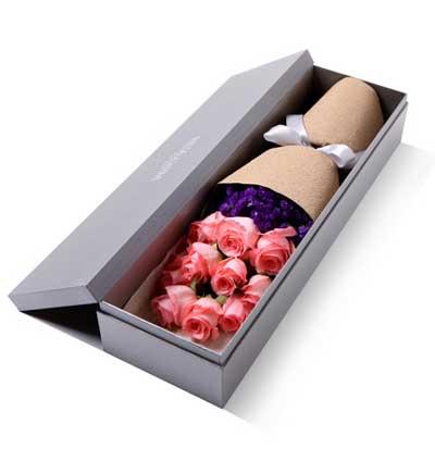 礼盒/11枝粉玫瑰窈窕淑女