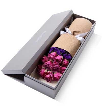�Y盒/11枝紫玫瑰遇�最美的你
