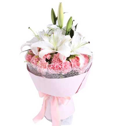 19枝粉康乃馨/爱的祝福