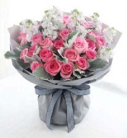 33枝粉玫瑰/幸福的约定