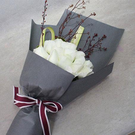 精选顶级白玫瑰19朵/雪域精灵(白玫瑰  爱情 朋友 生日 友情 情人 七夕 父母 教师 圣诞)