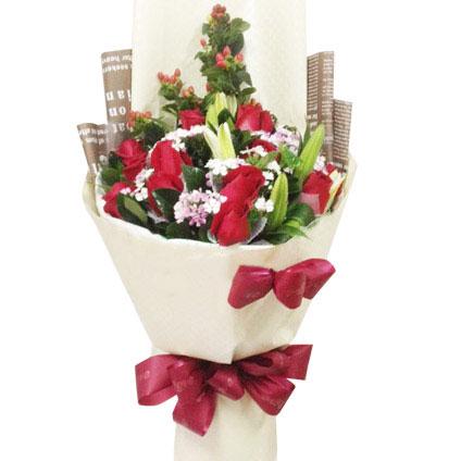11朵顶级红玫瑰/绝世爱恋 (红玫瑰 爱情 友情 生日 情人 七夕)