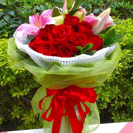 11枝极品红玫瑰/只愿 (红玫瑰 粉百合 爱情 友情 情人 朋友 七夕 父母 教师 圣诞)