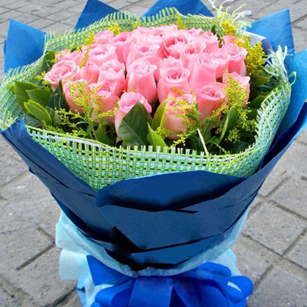 精选33朵精品粉玫瑰/一缕春风