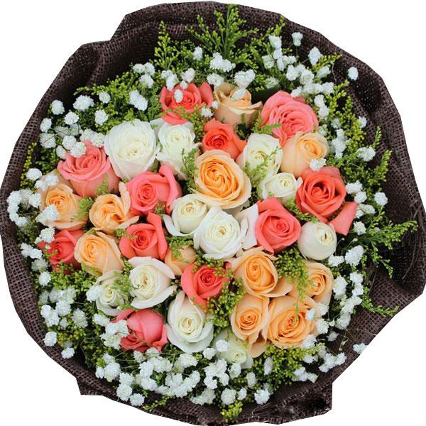 11枝极品粉玫瑰、11枝白玫瑰、11枝香槟玫瑰/最美相遇 (粉玫瑰、白玫瑰、香槟玫瑰 爱情 友情 情人 生日 朋友 七夕)