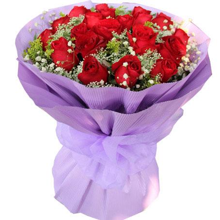 21朵顶级红玫瑰/爱你一辈子 (红玫瑰 爱情 友情 生日 情人 七夕 朋友 圣诞)