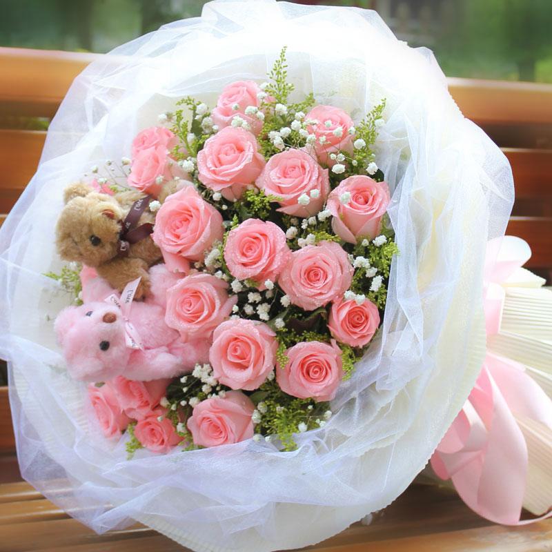 19朵戴安娜玫瑰/粉色情愫