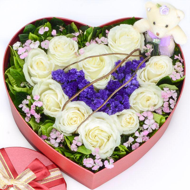 11枝优质白玫瑰/当我想你的时候