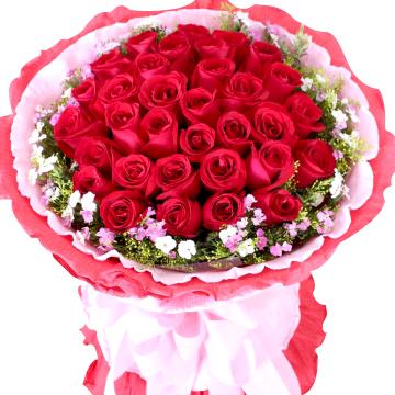 昆明空运33枝顶级红玫瑰/你是我的璀璨星光
