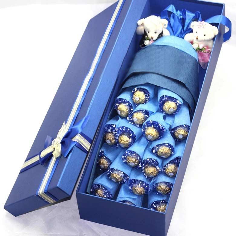 19颗正品费列罗巧克力/蓝色之吻