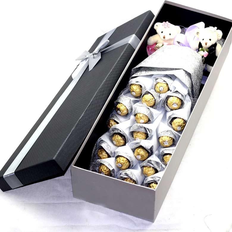 19颗精品巧克力/银色之心