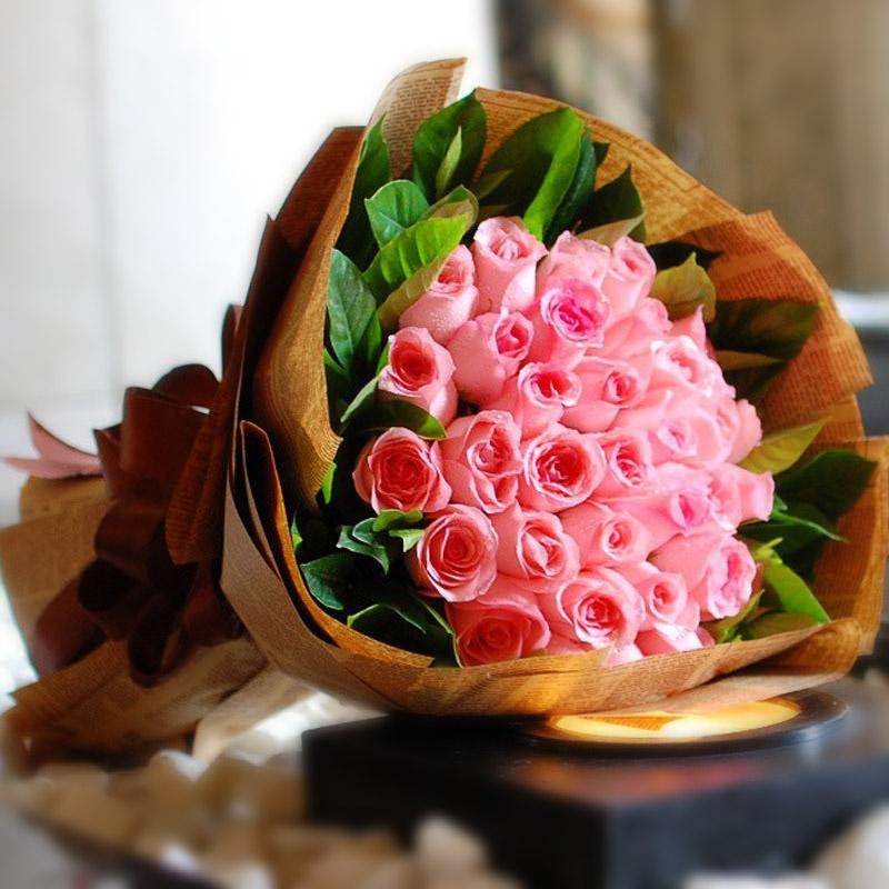 33朵戴安娜玫瑰/幸福你我