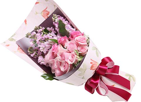 粉佳人戴安娜玫瑰14枝/美丽好心情