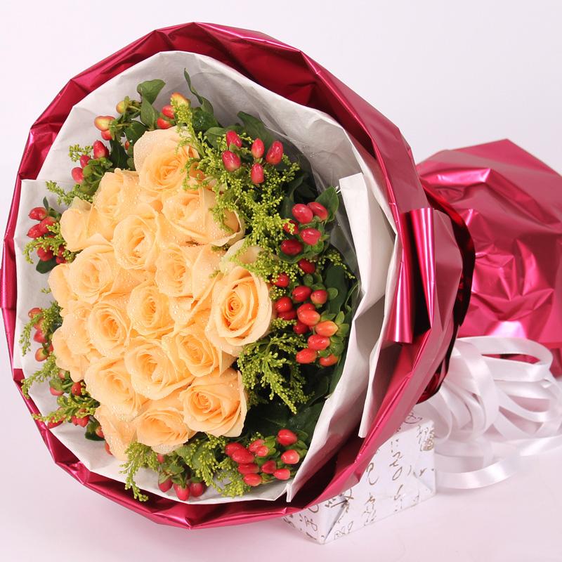19朵香槟玫瑰/一生一世